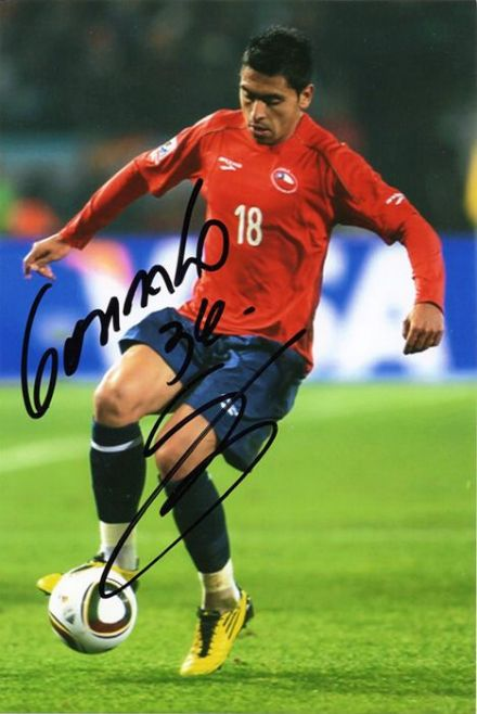 Gonzalo Jara, West Brom & Chile, signed 6x4 inch photo.